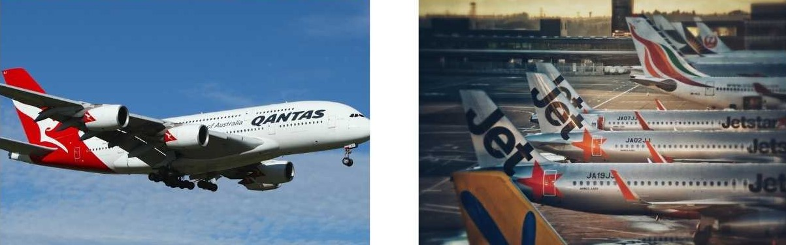 Jetstar and qantas